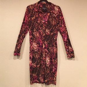 Leslie Fay long Sleeve Snap Up Dress, size 10